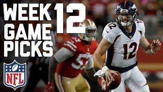 Week 12 NFL Game Picks in Under 3 Minutes⏱🏈  | NFL Highlights