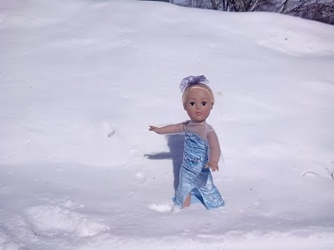 How to make a Frozen inspired dress for a doll