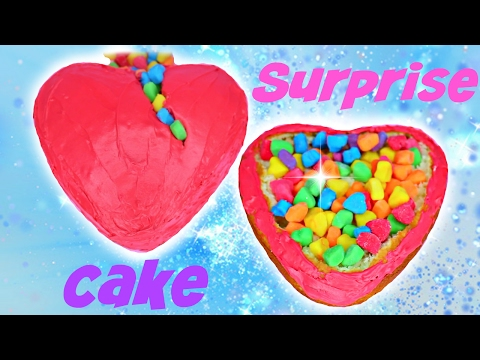 How to Make V-DAY Heart Piñata Cake - SURPRISE Heart Candy Center