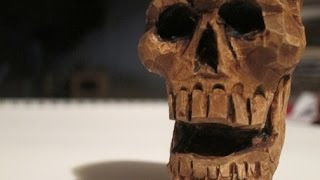 Skull Wood Carving (how to tutorial) -Schpoingle