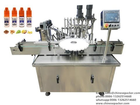 Working Process For E-cigarette Liquid Filler And Capper Machinery,E-Juice Filling Equipment