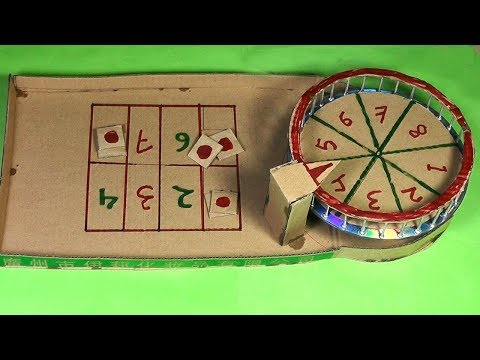 How to Mini casino Roulette Game from cardboard Make easy at home