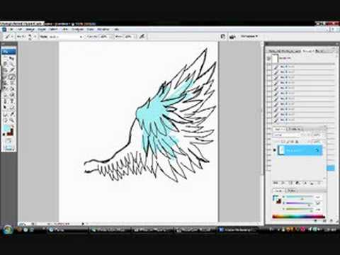 SpeedDrawing: Angel Wing