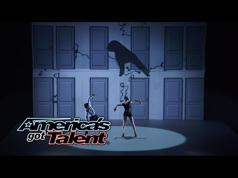 Blue Journey: Interactive Visual Dance Duo Mesmerizes Audience - America's Got Talent 2014