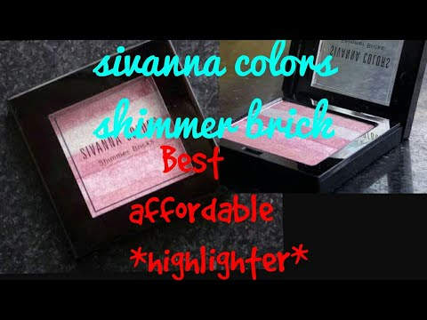 ✓honest review ✓ Sivanna colors shimmer brick 06 | sivanna highlighter| best affordable highlighter