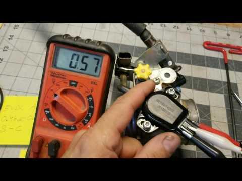 2011 honda CRF450 throttle position sensor adjustment
