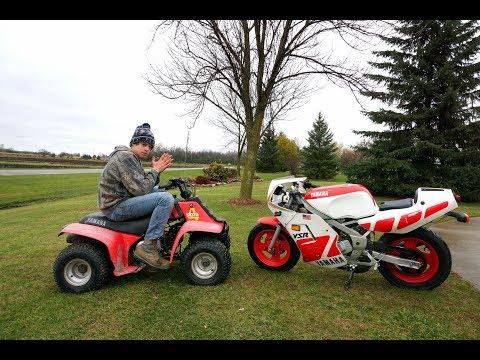 Yamaha YSR 50 vs Yamaha 90cc Four Wheeler!!!