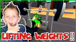 LIFTING WEIGHTS in ROBLOX