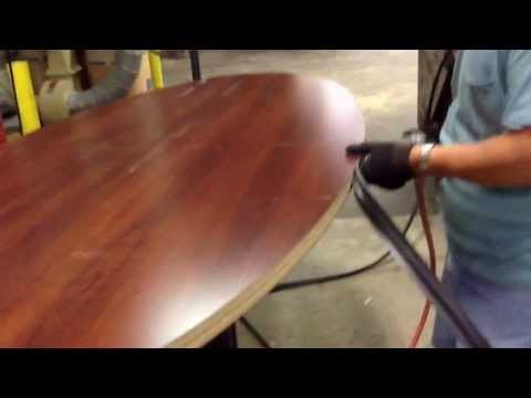 HOW TO INSTALL A VINYL EDGE ON A TABLETOP