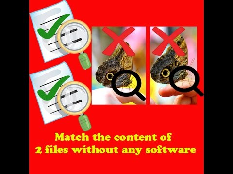 How to compare contents of two files without software