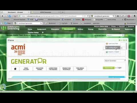 Adding and resizing an iframe to an Ultranet Space.flv