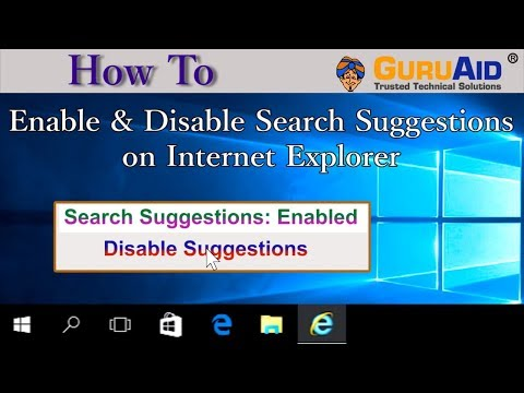 How to Enable & Disable Search Suggestions on Internet Explorer - GuruAid