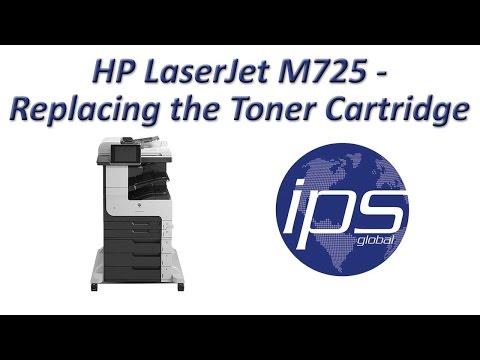 HP LaserJet M725 - Replacing the Toner Cartridge