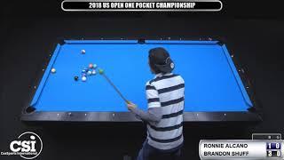 2018 Us Open One Pocket Championship: Ronnie Alcano Vs Brandon Shuff