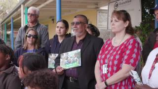 Steve Zimmer at Grand View Elementary School L.A.