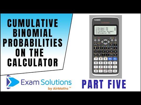 Cumulative Binomial Probabilities on the Casio fx-991EX ClassWiz Calculator | ExamSolutions