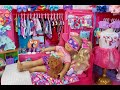 Download RAINBOW Doll bedroom For Jojo Siwa! Play dress up wardrobe with dolls & Glitter toys! MP3,3GP,MP4