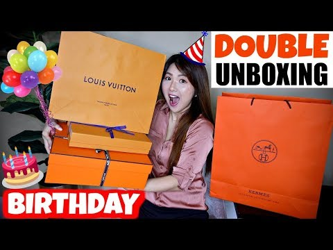 Early Birthday DOUBLE UNBOXING | LOUIS VUITTON + HERMES + LITTLE CHANEL | CHARIS