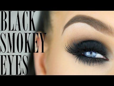 The perfect black smokey eye   makeup tutorial