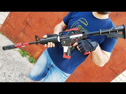 HOW TO MAKE M4A1-S   CYREX IN REAL LIFE (CS:GO,DIY)