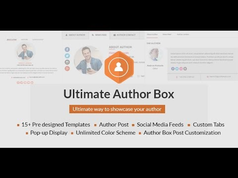 How to set your user profile - Ultimate Author Box