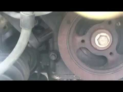 How to remove and replace drive belt mazda mpv 2000