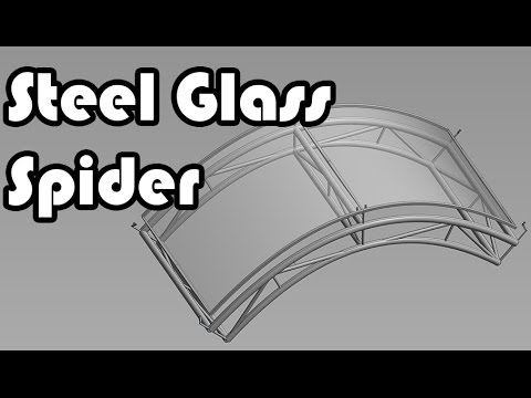 Learn revit in 5 Minutes   Steel Glass Spider (Part 1)