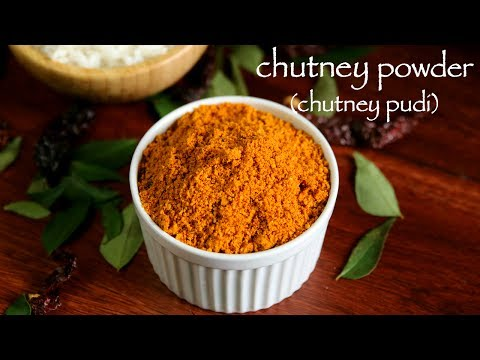 chutney powder recipe | chutney pudi recipe | how to make gunpowder recipe