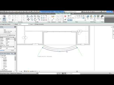 Sketching Stairs in Revit Architecture Part 1 -- in English