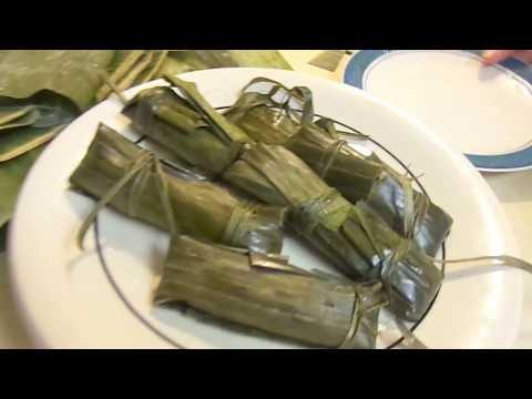 How To Make Suman Filipino Sweet Rice Recipe In Banana Leaves