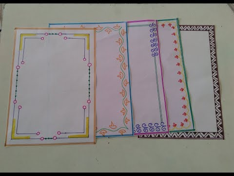 How to make beautiful page border design for school and college projects  easy page border tutorial7