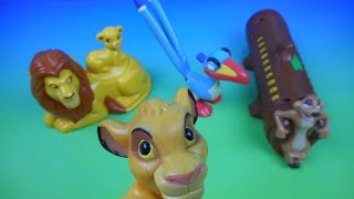 2003 WALT DISNEY CLASSICS THE LION KING SPECIAL EDITION SET OF 4 McDONALD'S KIDS MEAL TOYS REVIEW