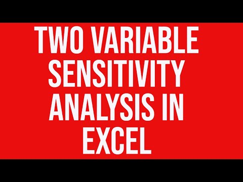 Two variable sensitivity analysis using data tables in Excel