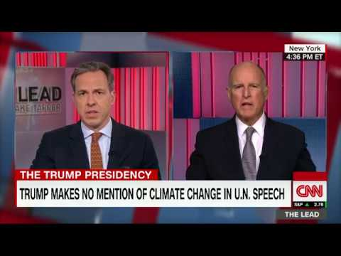 California governor rips Trump on North Korea and climate change