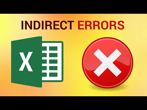 How to Use Indirect and Indirect Errors in Excel 2016