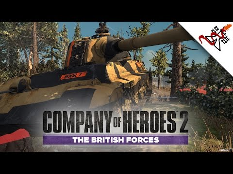 Company of Heroes 2 The British Forces - 4v4 TRY HARDER | Multiplayer Gameplay