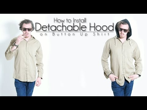 Easy DIY Transformation: How to Install Detachable Hood on Button Up Shirt