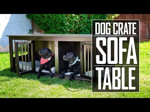 31 - Dog Crate Sofa Table