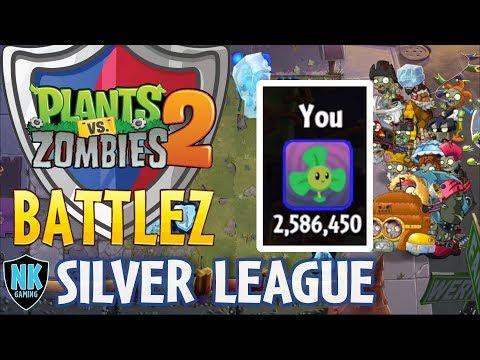 PvZ 2 - Bronze League Finale + Silver League - Battles 1-5 + 2.5 Million Score
