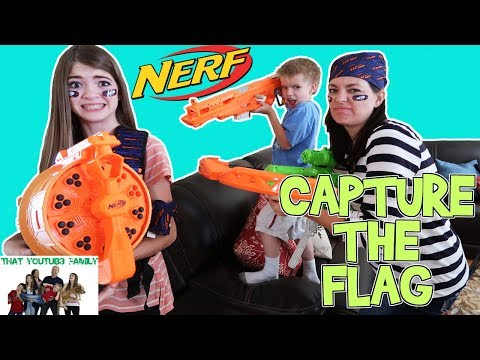 NERF BATTLE - CAPTURE THE FLAG / That YouTub3 Family