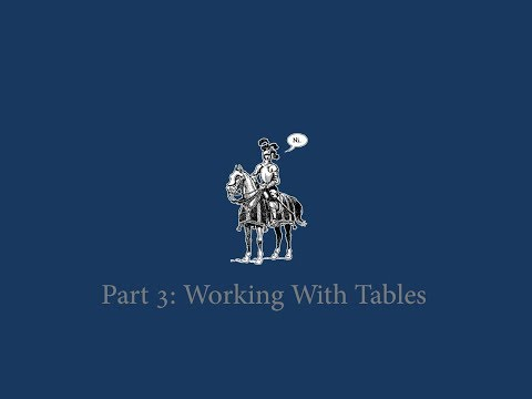 Working With Tables: Web Scraping With Python 3