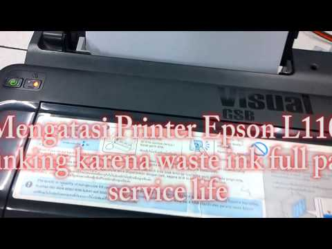 RESET Printer Epson L110 L210 L300 L310 Blinking