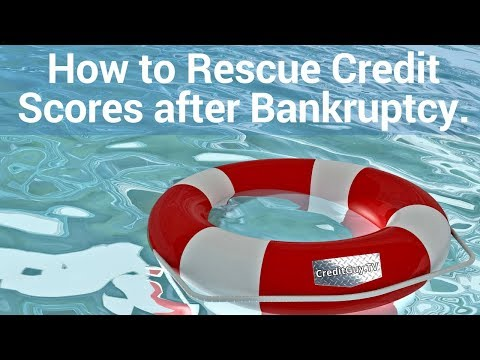 How to Rescue Credit Scores after Bankruptcy.