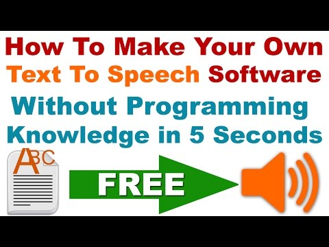 How To Make Your Own Text To Speech Software Without Programming Knowledge in 5 Seconds