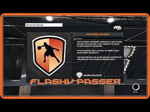 Nba2k15- How to unlock Flashy Passer Badge!