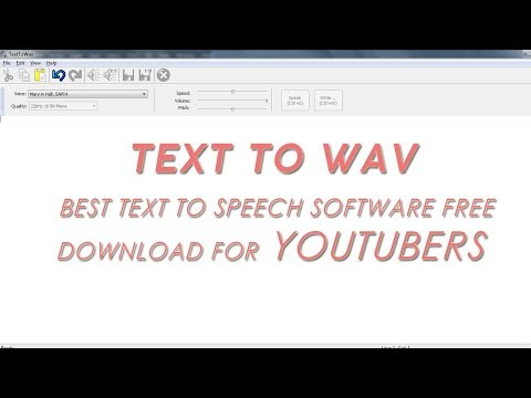 Text To WAV   Best text to speech software free download for YouTubers