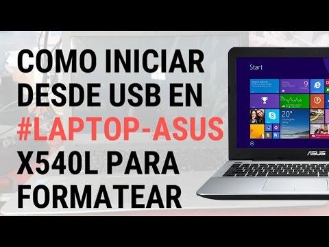 Como iniciar desde USB en laptop Asus para formatear
