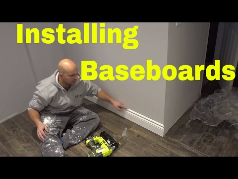 Installing Baseboards With A Finish Nailer-DIY Tutorial