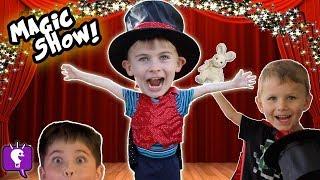 HobbyKadabra Silly Kids Magic Show! Tricks + Funny Assistant HobbyKidsTV