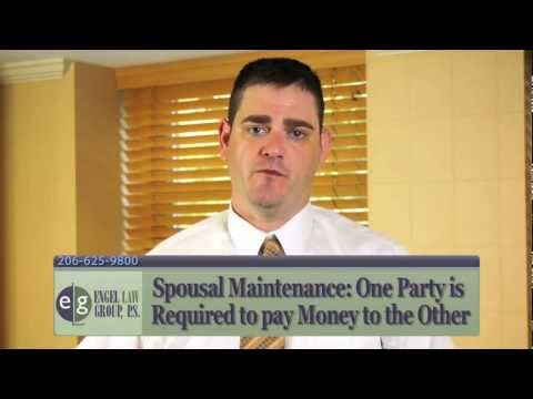 What is Spousal Maintenance? Seattle Family Law Attorney Eric Engel Explains the Concept